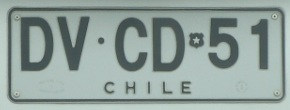 Fotos Curiosas - Placa de carro do Chile -